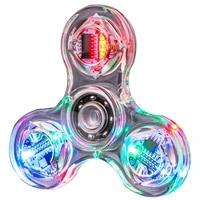 crystal luminous led light fidget spinner hand top spinners glow in dark edc stress relief toys kinetic gyroscope for children