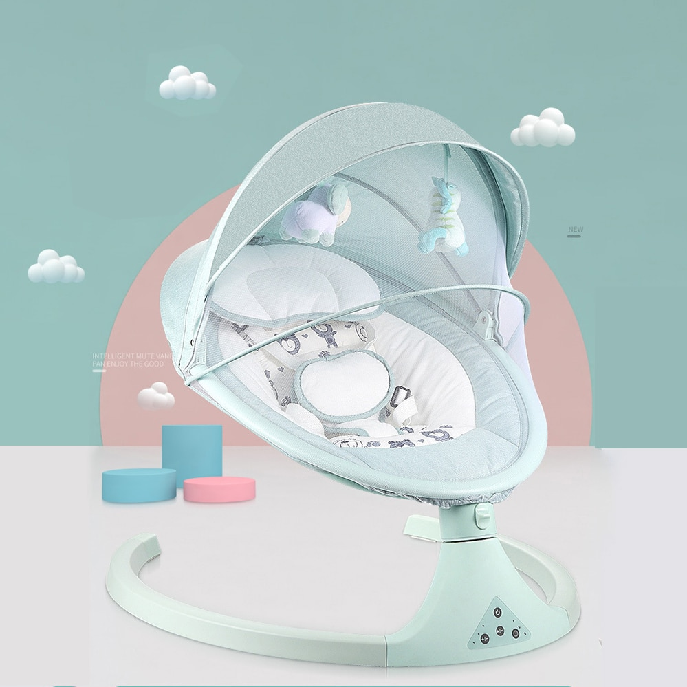 Newborn Baby Cradle Baby Rocking Chair Sleeping Swing Bouncer Rocking Soothing Electric Cradle Bluetooth Rocker Chair With Seat