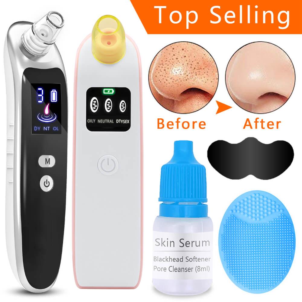 Eliminador de espinillas faciales, Extractor de vacío, mascarilla para la nariz, lifting de piel, cepillo de limpieza, acné, cabeza negra, herramienta de masaje de extracción, herramientas