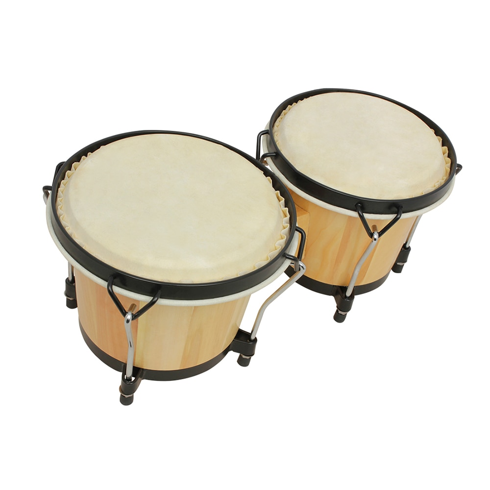 Wooden African Bongos Drum Percussion Musical Instruments Thick Goatskin Kids Early Learning Educational Music Toys Send Wrench enlarge