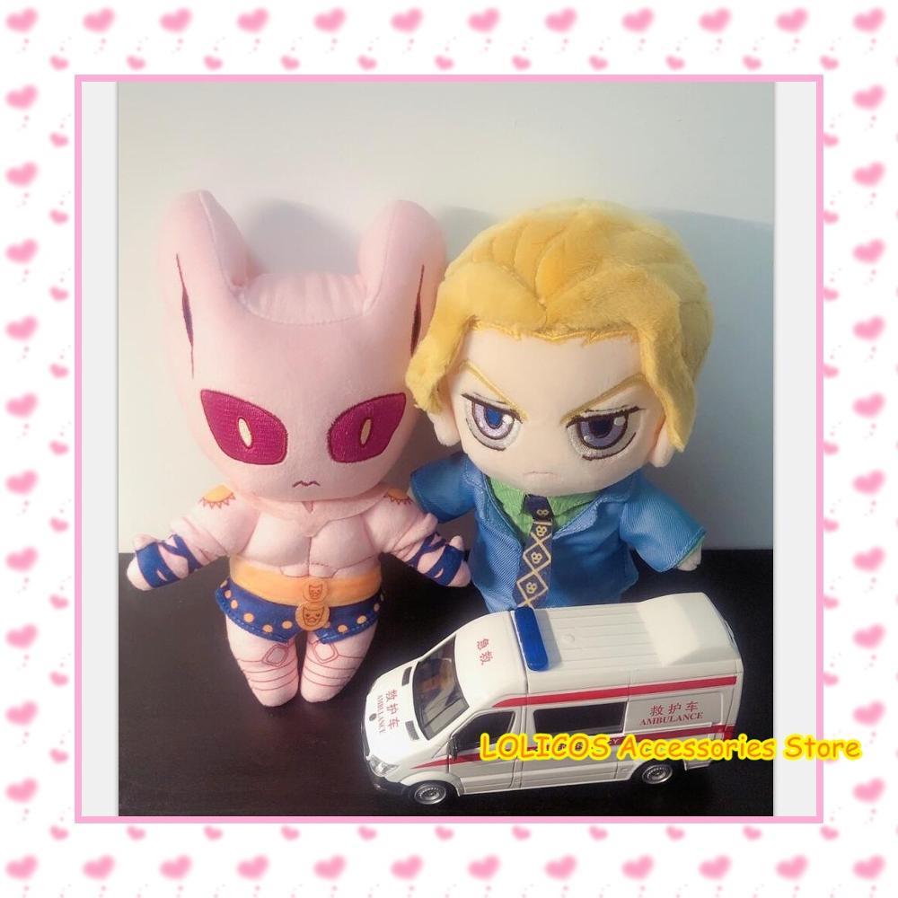 Anime JoJo's Bizarre Adventure KILLER QUEEN Kira Yoshikage Cosplay Cute DIY Change Clothes Dolls Plush Toy Pillow Xmas Gift