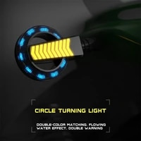 motorcycle turn signal signals light led tail flasher new motorcycle light 12v round water turn signal