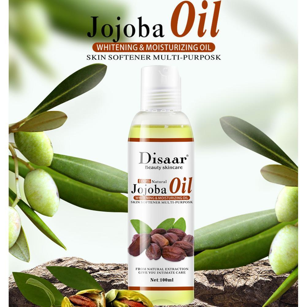 Disaar Natural Organic Jojoba Oil Massage Skin Care Moisturizing Tone Essential 100ml brighten Stres