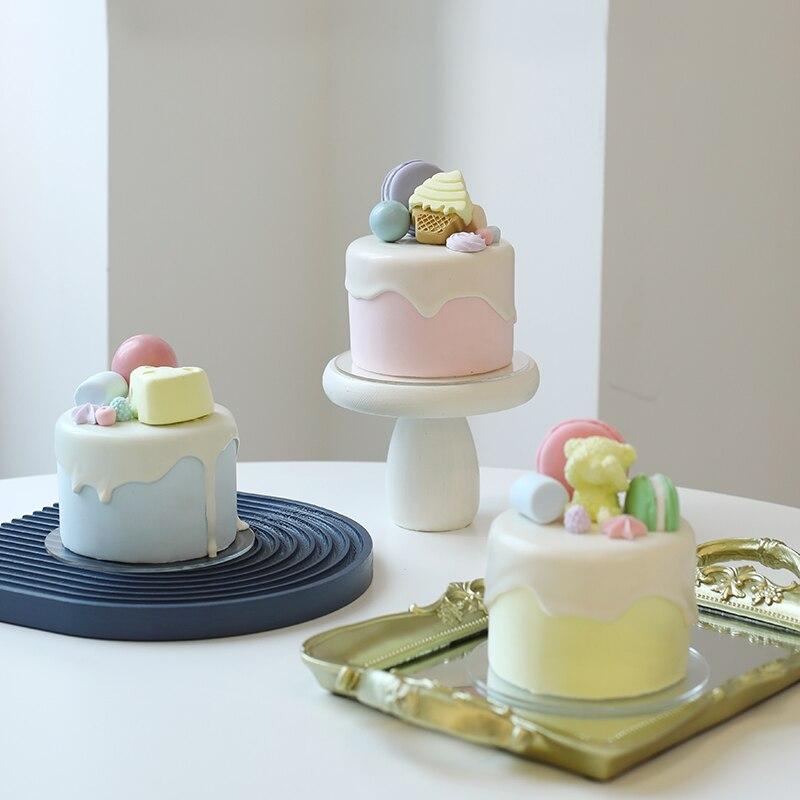 4 بوصة كعكة صغيرة محاكاة الصقيل الخبز مخزن نموذج التصوير الدعائم متجر نافذة الديكور وهمية الغذاء
