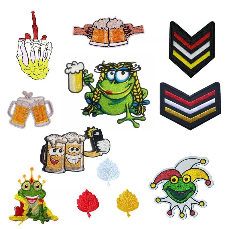 Parche para ropa de Carnaval holandés Den Bosch, parche para ropa de cerveza de rana, aplique parche cocido bordado, insignia