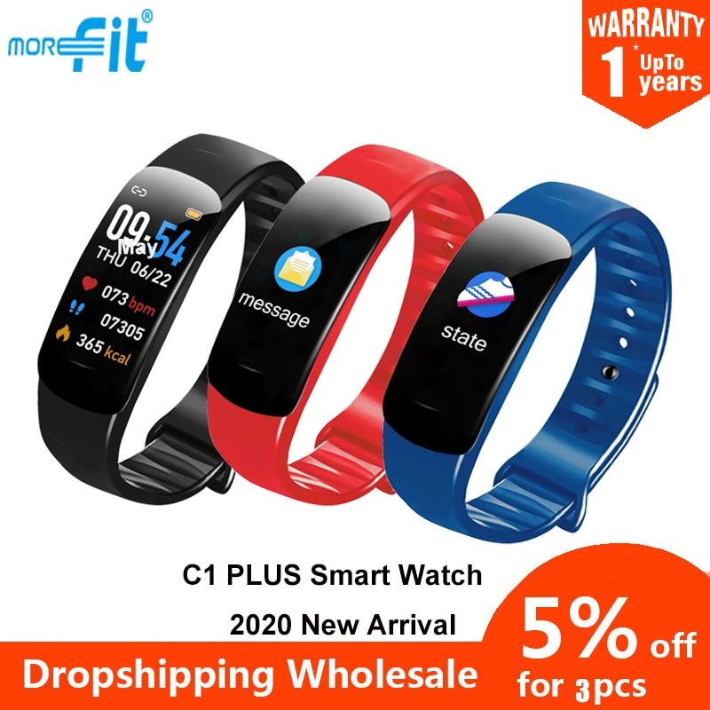 Original morefit c1 plus relógio inteligente atividade rastreadores monitor de freqüência cardíaca smartwatch fitness pulseira inteligente vs m5 relógio