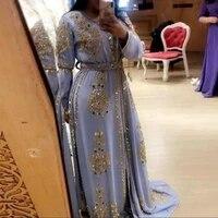 lavender chiffon beaded evening dresses karakou algerian prom gowns shiny sequin appliques lace formal party