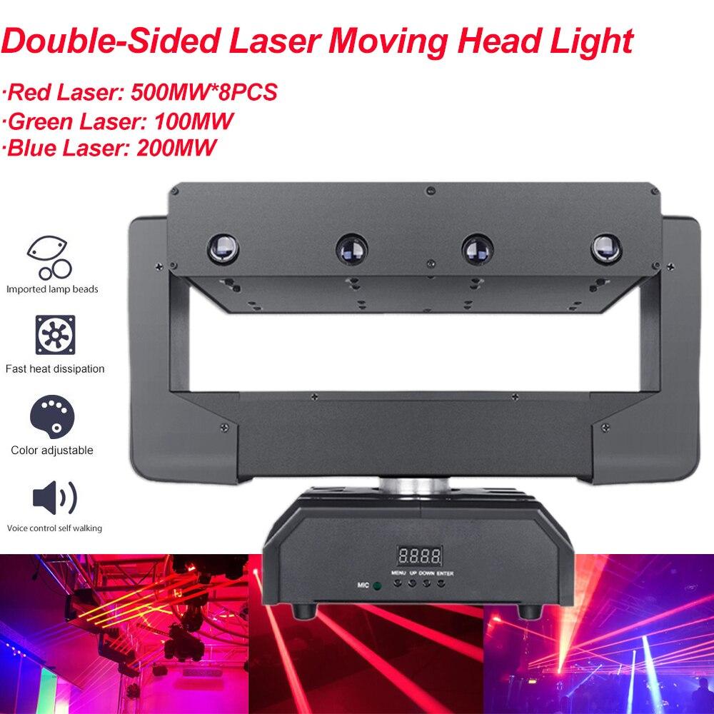 Двусторонний светодиод лазер дешево сцена свет бар ktv дискотека перемещение голова луч свет с зеленый красный лазер луч эффект DMX512 управление