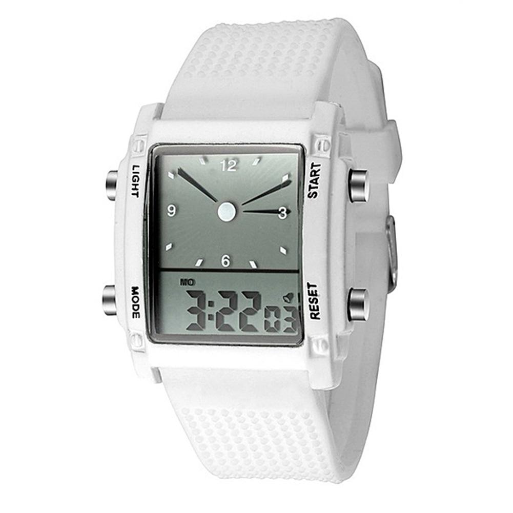 Часы наручные унисекс, водонепроницаемые спортивные цифровые кварцевые часы с будильником и хронографом с двойным жк-дисплеем, подарки для...