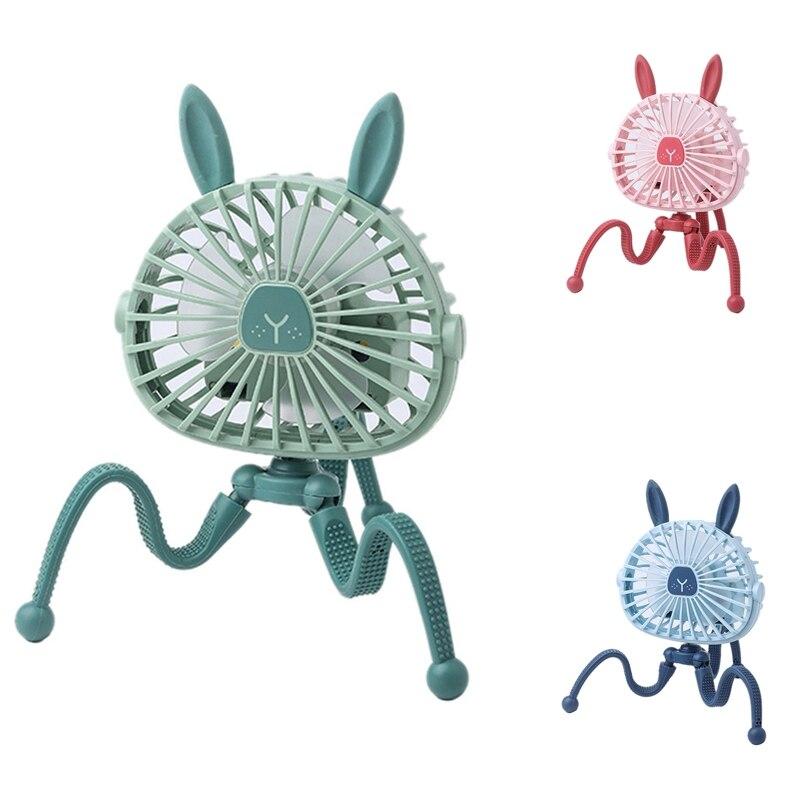 2021 новые милые Мультяшные осьминоги Регулируемые Портативные USB вентиляторы ручной кронштейн для детской коляски тихий вентилятор мини-по...