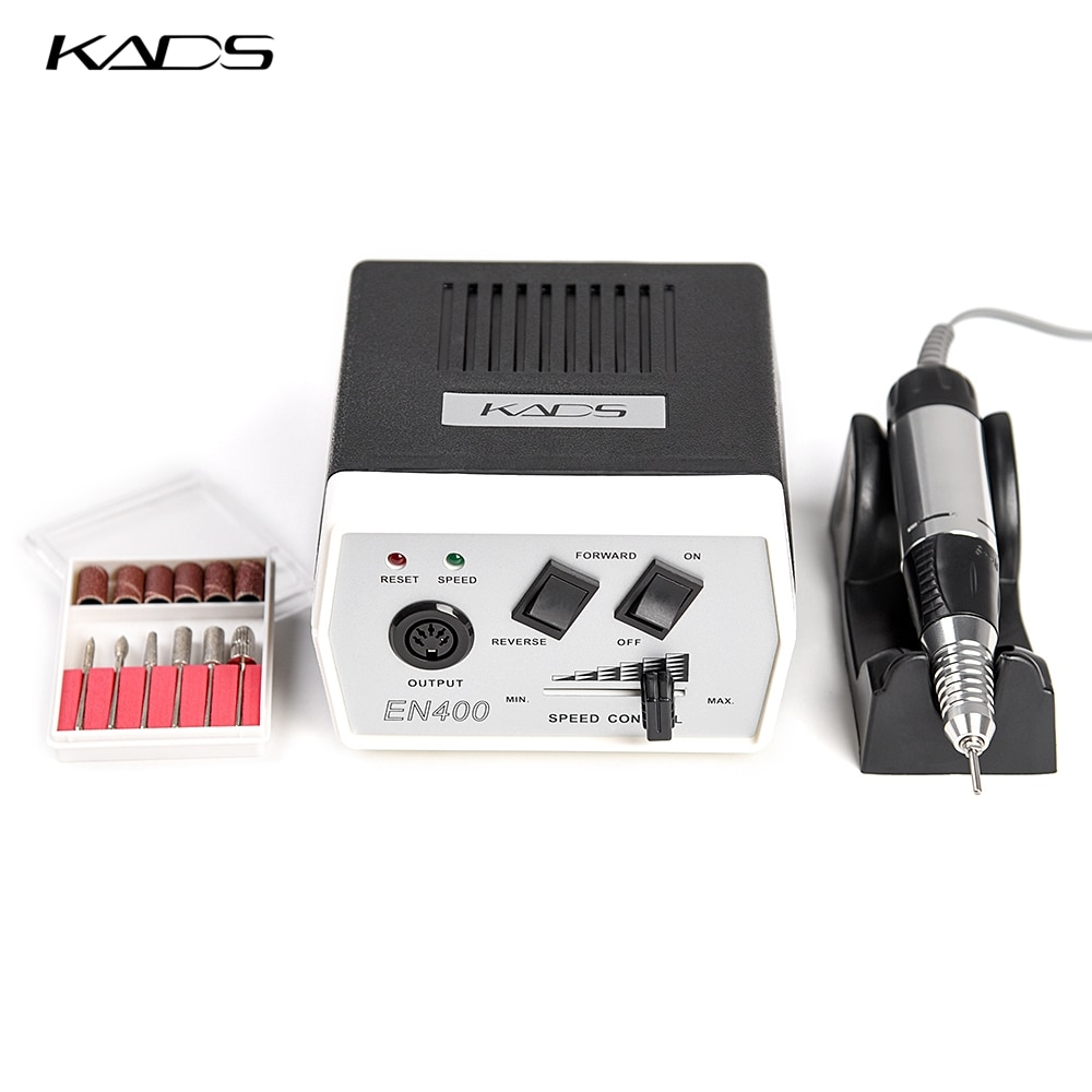 KADS Electric Nail Drill Manicure Machine Apparatus 35W 30000RPM Manicure Pedicure Tool Kit Nail Fil