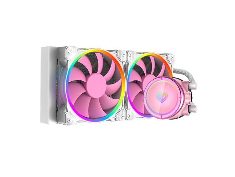 Id-resfriamento pinkflow 240 pinkflow cor-de-rosa sinfonia argb efeito de luz integrado refrigerado a água cpu cooler
