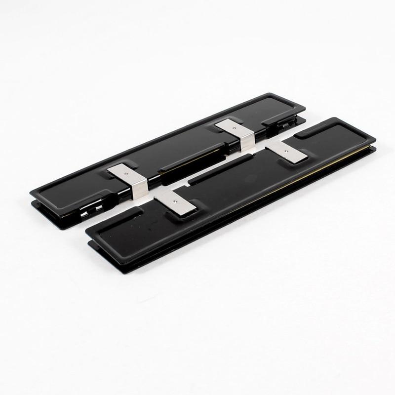 2 x alumínio dissipador de calor shim propagador cooler para memória ram ddr