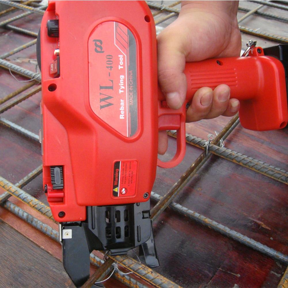New Automatic Rebar Tying Machine WL-400 Max 40mm Rebar Tier Tool 2 Battery