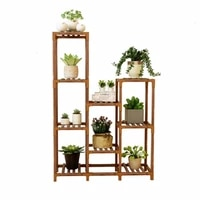 suporte flores wood plantenrekken stand living room pot repisa para plantas terraza rack dekoration balcony flower plant shelf