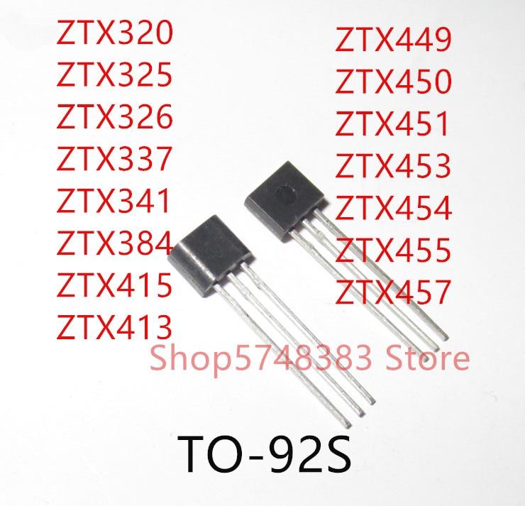 10PCS ZTX320 ZTX325 ZTX326 ZTX337 ZTX341 ZTX384 ZTX415 ZTX413 ZTX449 ZTX450 ZTX451 ZTX453 ZTX454 ZTX455 ZTX457 TO-92S