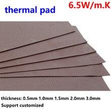 6.5W Thermal Pad100*100 0.5mm 1.0mm 1.0mm Variety Thickness IC GPU CPU Heatsink Conductive Silicone Cooling Pad