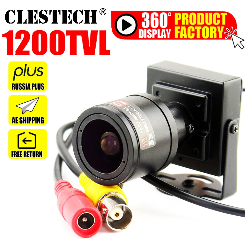 aliexpress.com - 11.11 Mini Zoom Camera 2.8mm-12mm 1200TVL HD Zoom Manual focusing Djustable Lens Metal security surveillance vidicon Micro video