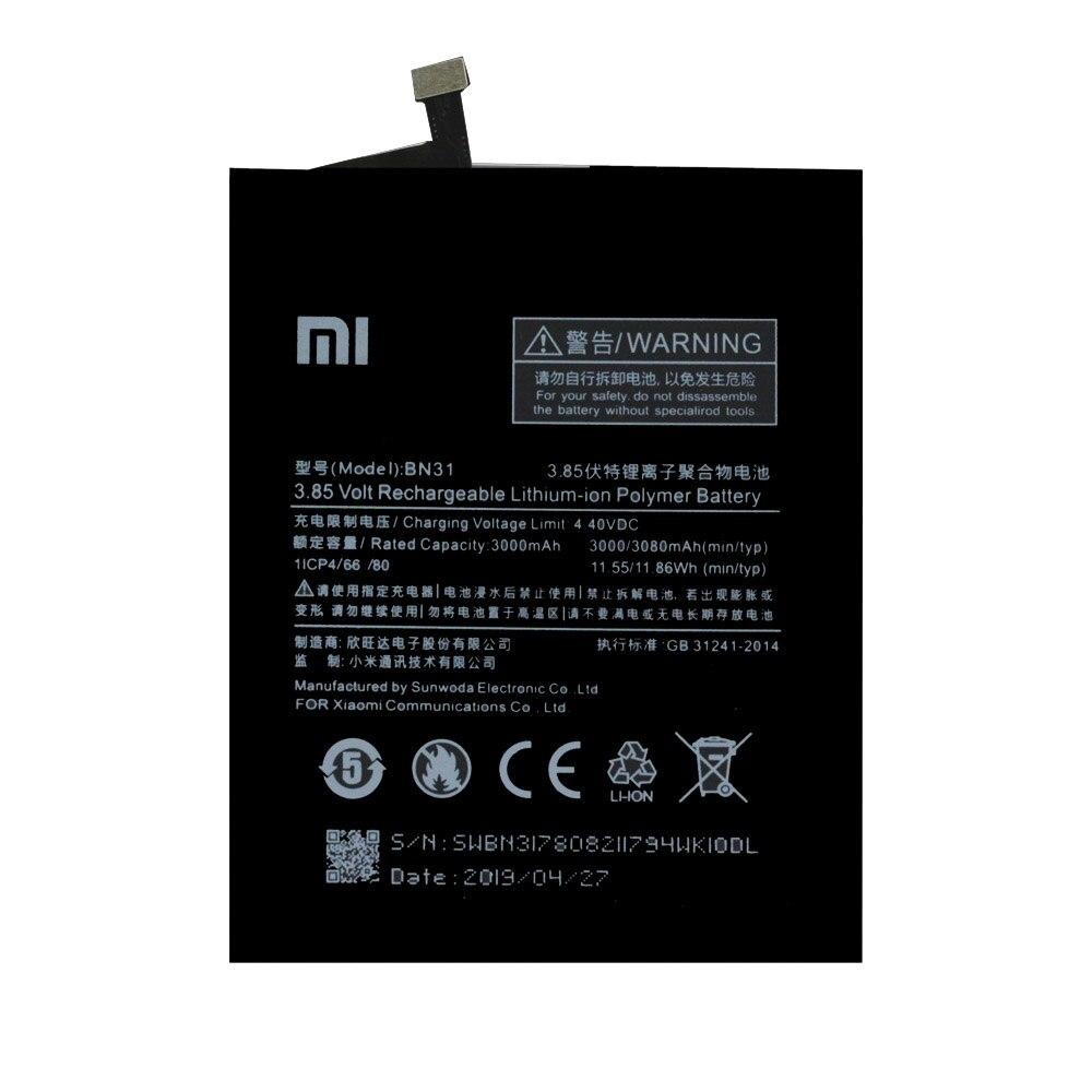 20pcs/lot Original BN31 Battery For Xiaomi Mi 5X Mi5X Redmi Note 5A / Pro Mi A1 Redmi Y1 Lite S2 Batteries3000mAh enlarge