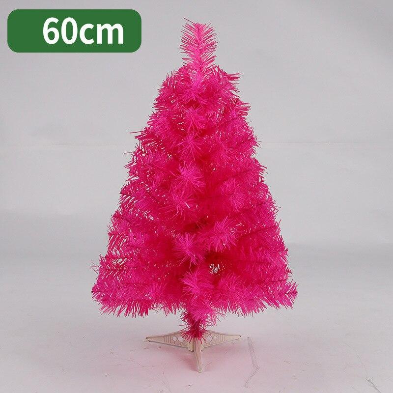 60cm árbol de Navidad negro Rosa rojo mini artificial árbol de Navidad decoración adornos navideños para el hogar envío gratis