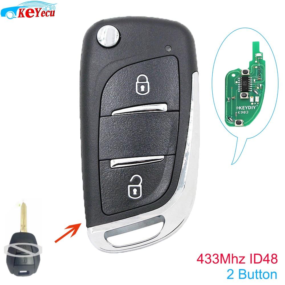 Llave de control remoto llave de control remoto de 2 botones 433MHz ID48 para vaxhall Omega/Vectra/Frontera/Isuzu p/N 9153226