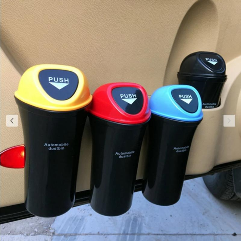 Car Trash Can Automobiles Storage Bag Accessories Organizer Garbage HolderAuto Door Seat Back Visor