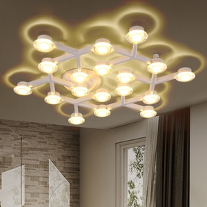 Modern minimalist LED ceiling Light  wall lighting White Branch top Ceiling engineering lamps for Bedroom Living room