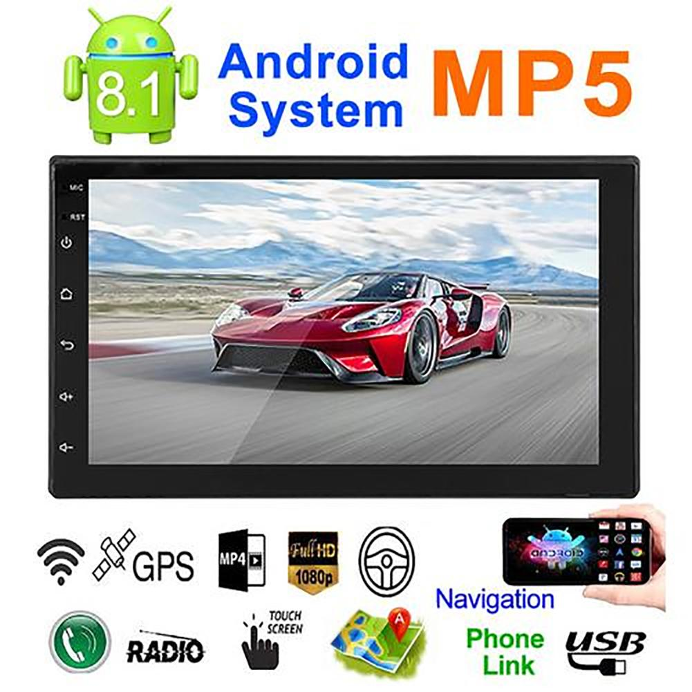 Kit multimídia automotivo com android 8.1, android, sistema de memória, 7in, botão touch, hd, bluetooth, mp5 player, rádio universal, gps navegação all-in-one d