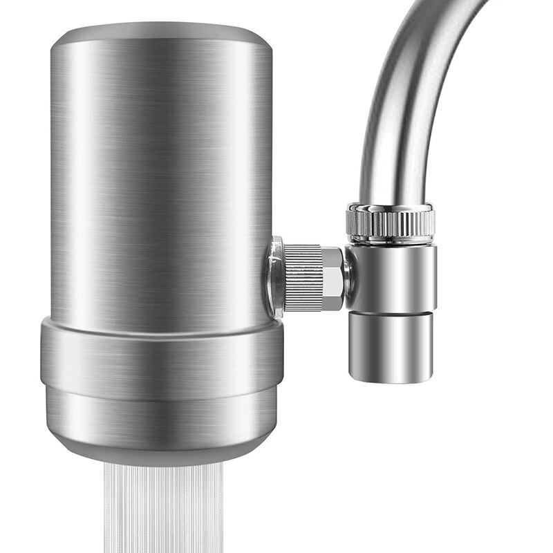 Filtro de agua del grifo, sistema de filtración del grifo de agua de acero inoxidable, filtro de agua del grifo de alto flujo, purificador de agua reduce Ch