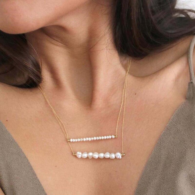 925 prata/ouro enchido natural barroco pérola colar artesanal jóias gargantilha pingentes boho collier femme kolye colar