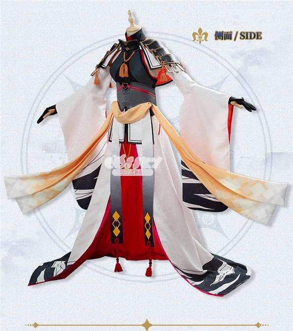 2019 pre-venda destino/grande pedido fgo uesugi kenshin cosplay traje conjuntos completos um