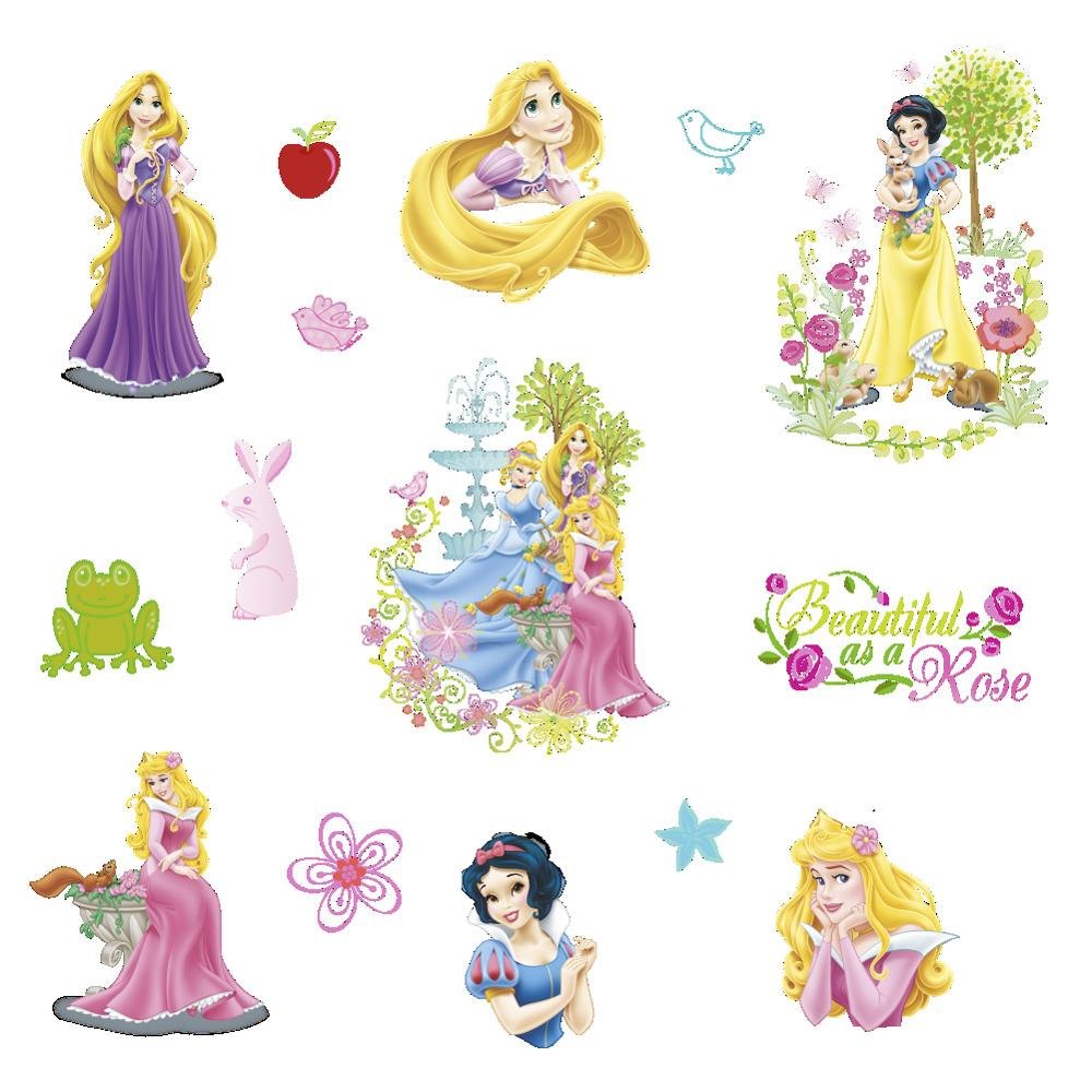 Disney neve branca princesa scrapbooking para crianças quartos decoração diário notebook decoração brinquedo 3d adesivo