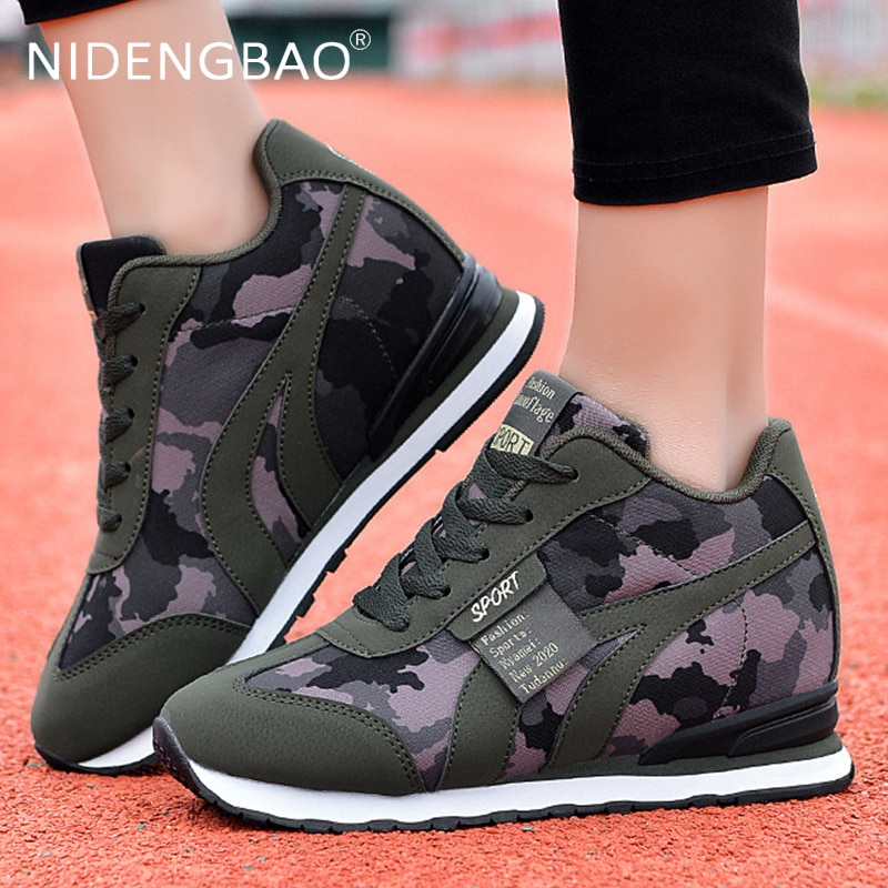 Running Shoes For Women Platform Sneakers Thick Bottom Wedges Casual Sport Breathable Walking Trainers
