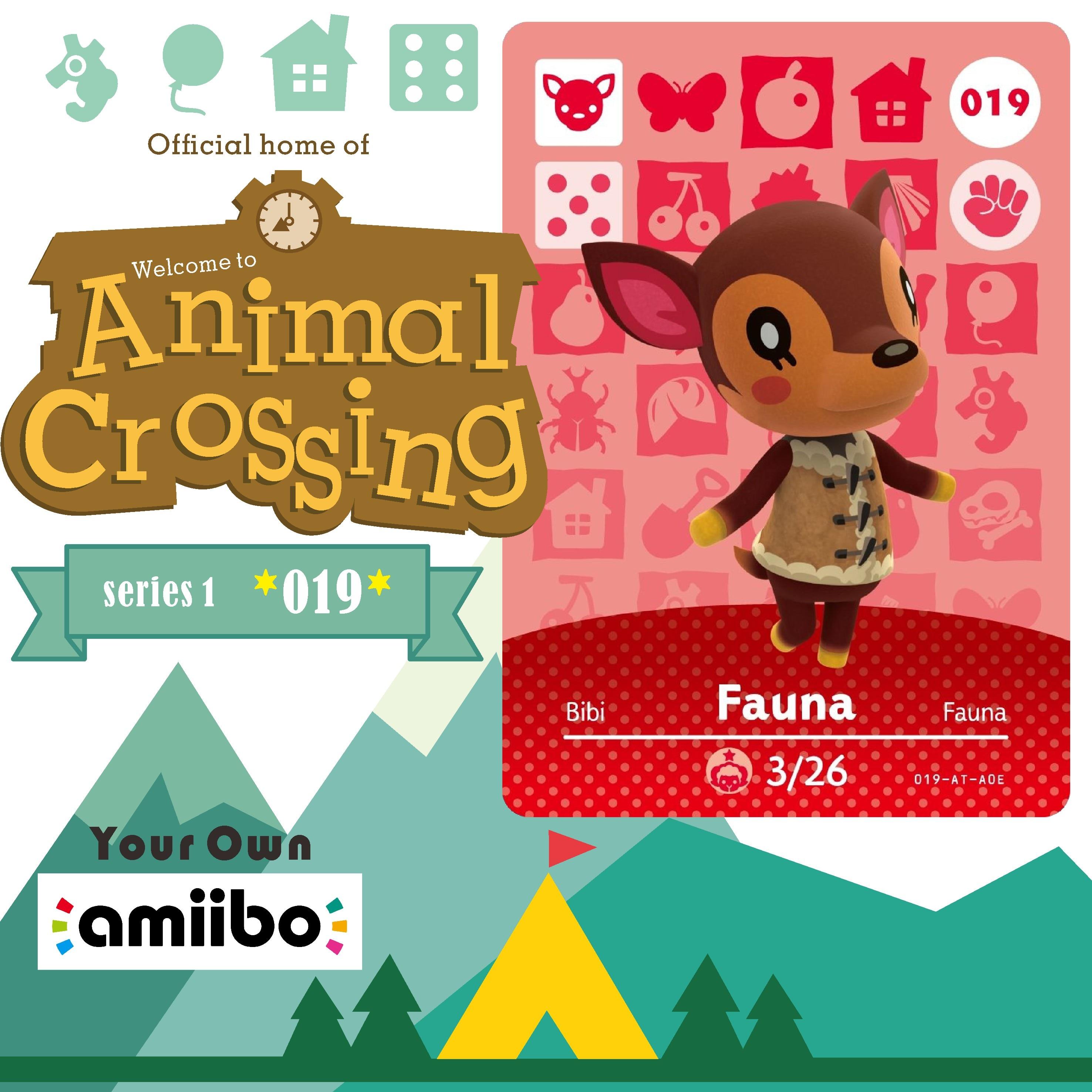 019 Fauna Welcome Amiibo Game Cross Card Animal Crossing Card Amiibo Nfc Card Series 1 Work for Amiibo Animal Crossing Ns Games