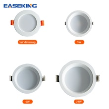 LED ceiling lights for room 5W dimming 5W 9W 24W Cold Warm White Natural light LED fixtures ceiling
