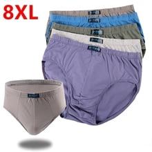 plus size Men's underwear male cotton cotton pants big size triangular underpants men pants head high waist pants head big men