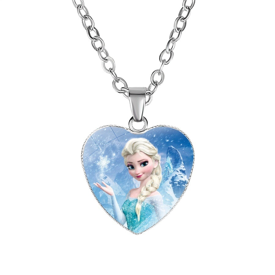 Disney cartoon Frozen children necklace princess Sofia bow doll accessories girl birthday gift cosme