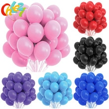 10/20pcs Pink Black White Latex Balloons Birthday Party Decoration Kids Toy Adult Wedding Decor Heli