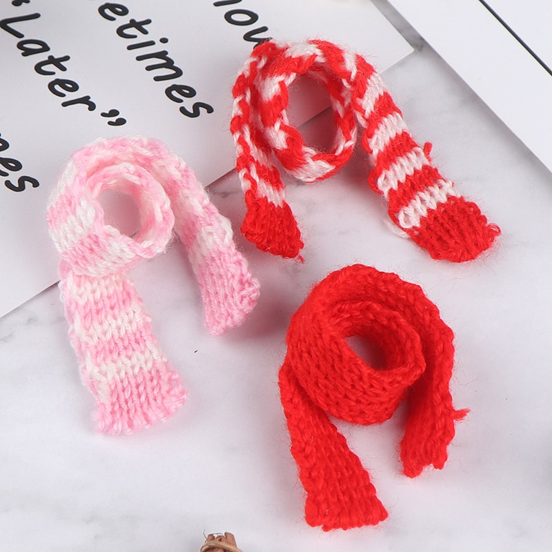 3Pcs Knitting Scarf Ornament DIY Handmade Decorative Supplies Dolls Clothing Sewing Accessories Kid