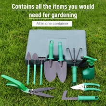Garden Tool Set 10pcs Stainless Steel Garden Tool Kit with Organizer Case Heavy Duty Gardening Work Set Including Pruner