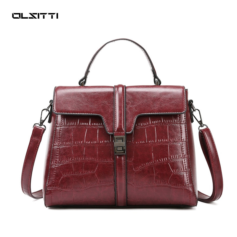 OLSITTI Pu Leather Handbags for Women 2021 New Luxury Ladies Hand Bags Female Shoulder Top-Handle Cr