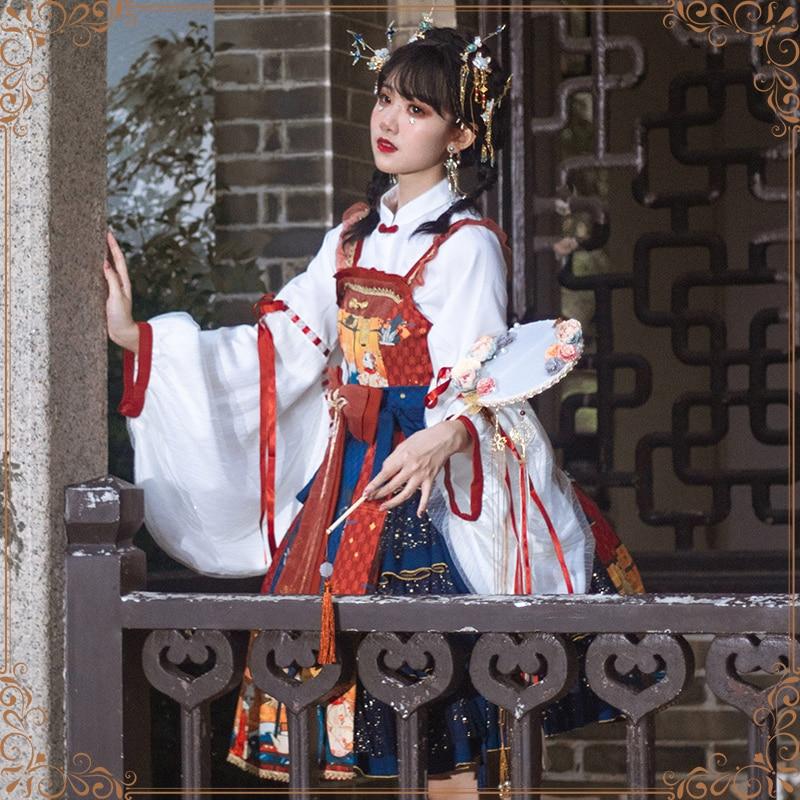 Sakura Love Original Japanese Style Lolita Ukiyolu JSK Lolita Genuine Small Skirt Dress Full Set Japanese Anime Cosplay Costume jsk lolita cute lolita costume high collar dress lovely print lolita jsk coffee