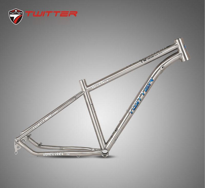 twitter blake 29er mountain bikes aluminum alloy al7005 frame 29er 15 5 17 19 inch height mtb bicycle frame 1810g Mtb Bicycle Frame Twitter Werner Titanium Frame Thru-axle 12*142mm 27.5er 29er Aviation Titanium Alloy 15.5 17 19 Bikes Frame