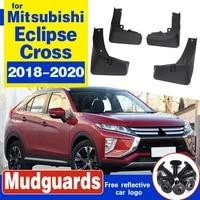 car mud flaps for mitsubishi eclipse cross 2018 on mudflaps splash guards flap mudguards car styling 2019 2020