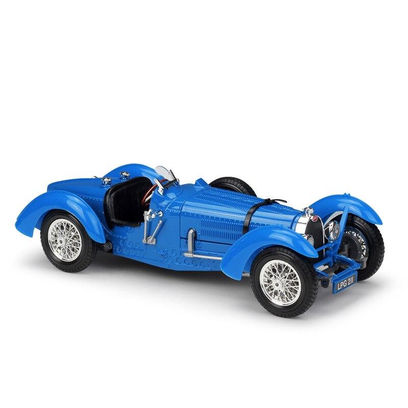 Bburago, escala 1/18, Serie de coches clásicos 1934, Bugatti tipo 59, juguete de modelo de coche de Metal fundido a troquel para regalo, niños, Colección, decoración