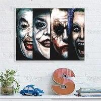 Affiche murale avec personnage de film Clown Hd  peinture sur toile imprimee  decoration murale nordique  cinema et chambre a coucher  images modulaires