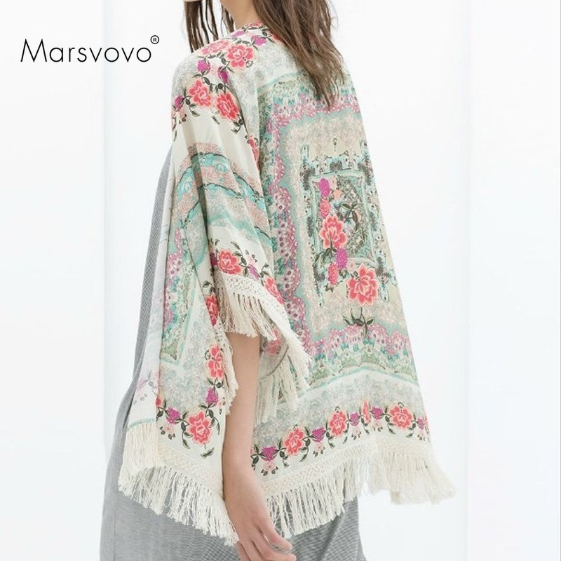 Женская винтажная кофта с длинным рукавом, кардиган оверсайз с цветочным принтом, в Корейском стиле, Y2k, 2021