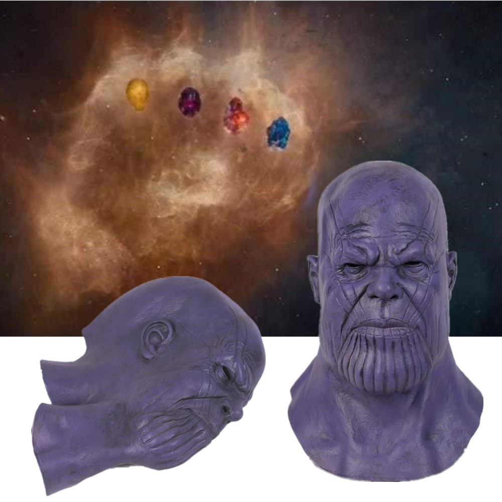 Thanos máscara máscaras de látex Cosplay película guerra del infinito juego Deadpool accesorio máscara