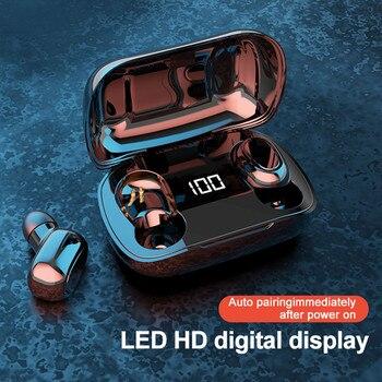 XT7 Bluetooth 5.0 TWS Wireless In-Ear Stereo Earphones Digital Charging Box New Dropshipping