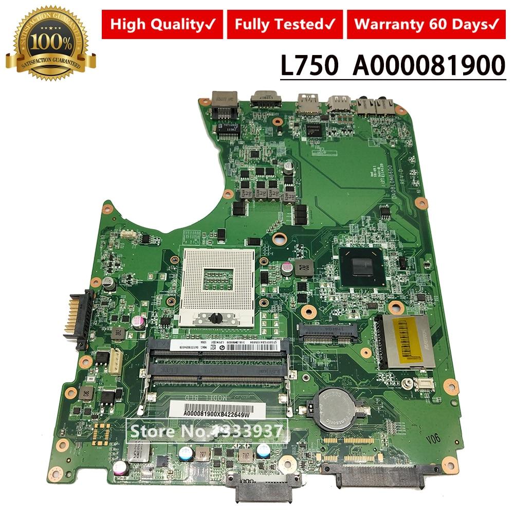 Para Toshiba L750 L755 BLD Laptop motherboard A000081900 DABLDMB16A0 DABLDMB16D0 HM65 mainboard 100% Testado